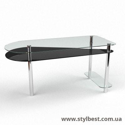 Стеклянный компьютерный стол  Рамундо