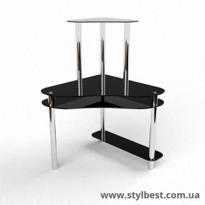 Стеклянный компьютерный стол Посейдон
