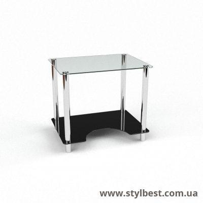 Стеклянный компьютерный стол Клото