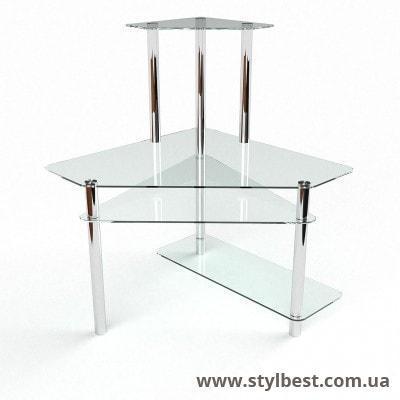 Стеклянный компьютерный стол Фемида