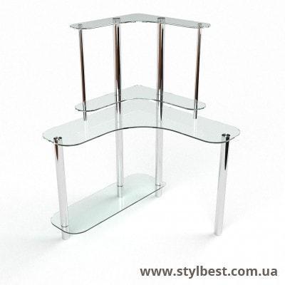 Скляний комп'ютерний стіл Діона