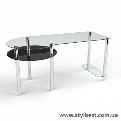 Стеклянный компьютерный стол Виктория