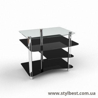 Скляний комп'ютерний стіл Леон