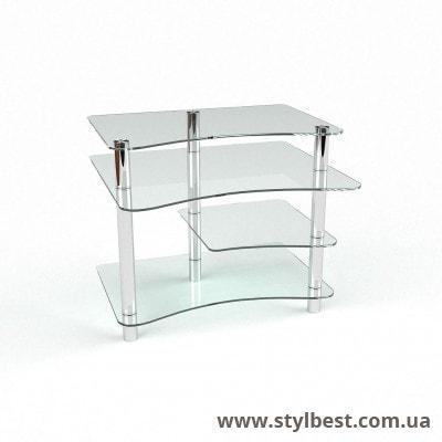 Скляний комп'ютерний стіл Капітошка