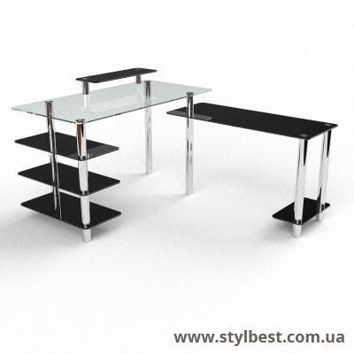 Скляний комп'ютерний стіл Тритон