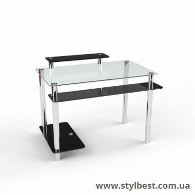 Стеклянный компьютерный стол Фобос