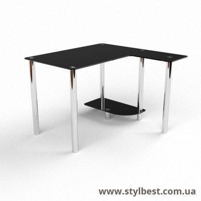 Скляний комп'ютерний стіл Прометей