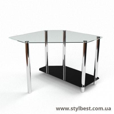 Стеклянный компьютерный стол Каспиан