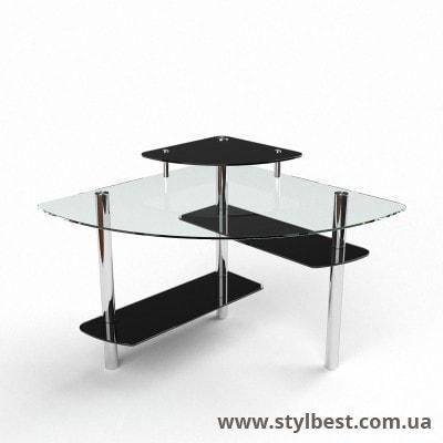Стеклянный компьютерный стол  Фива