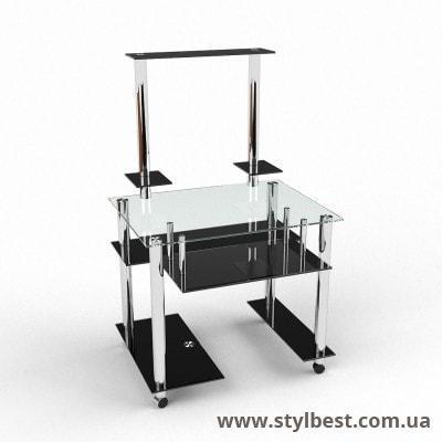 Скляний комп'ютерний стіл Фігаро