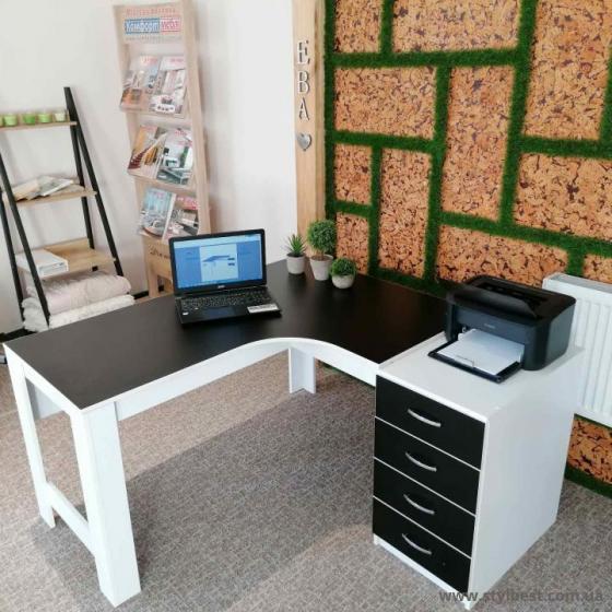 Офісний кутовий стіл ФКМ Доміно од-13