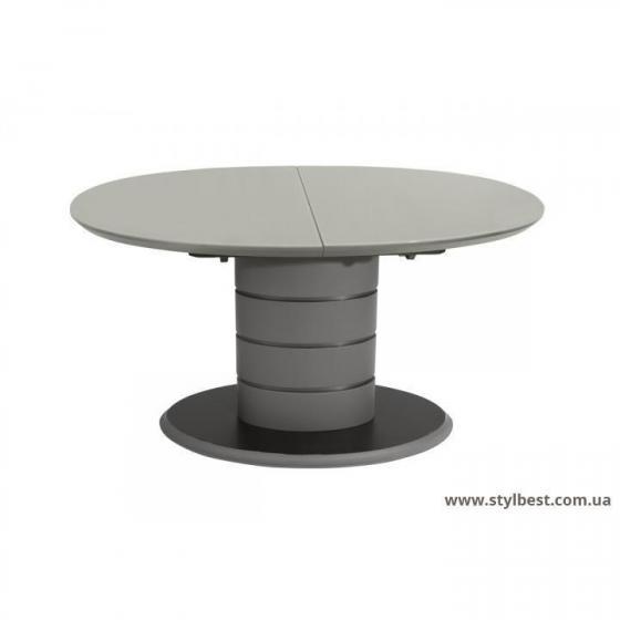 Стол ТМ-65 серый (МДФ + Глянцевое стекло)