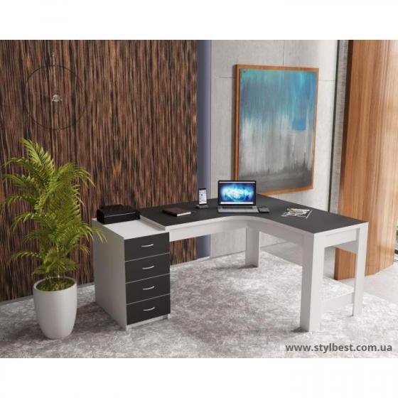 Офісний кутовий стіл ФКМ Доміно од-13 ЛЮКС