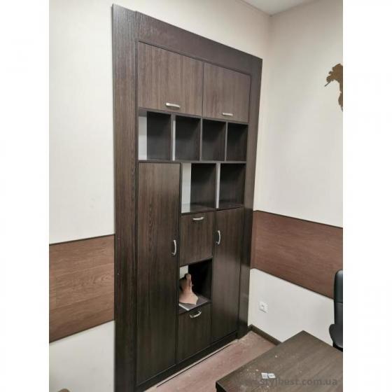 Шкаф офисный по индивидуальному проэкту, встроенный